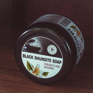 Чёрное шунгитовое мыло Black shungite soap (500ml)