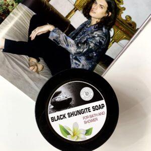 Шунгитовое мыло для бани и душа (500 гр)